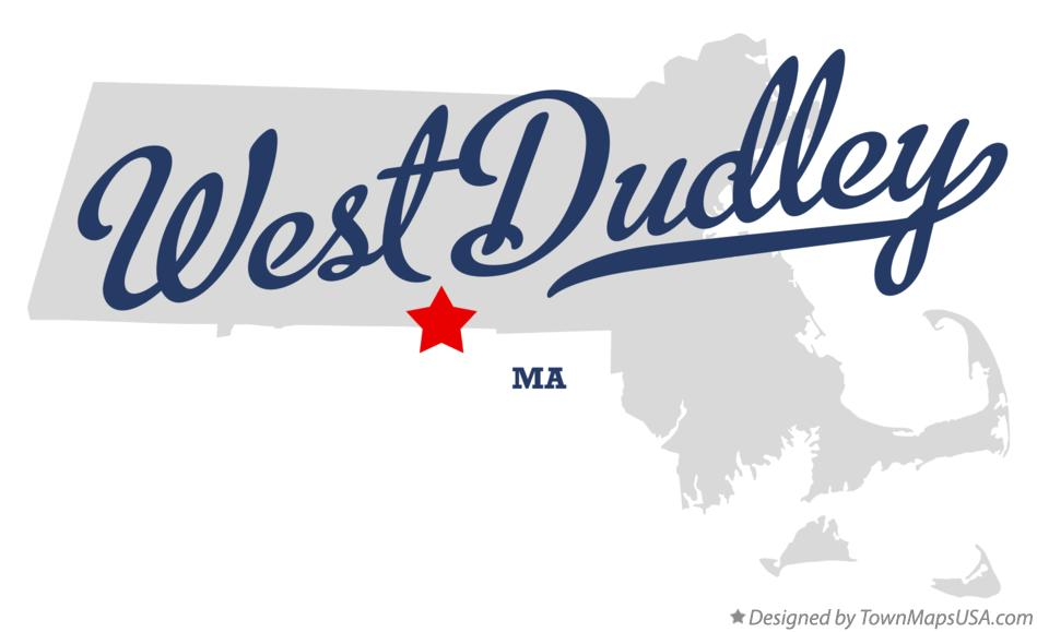 Map of West Dudley Massachusetts MA