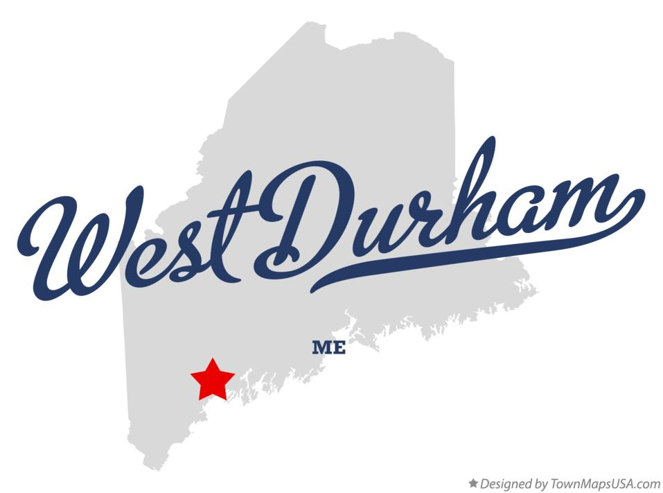Map of West Durham Maine ME