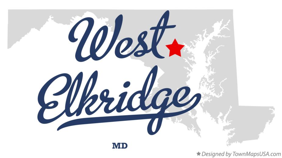 Map of West Elkridge Maryland MD