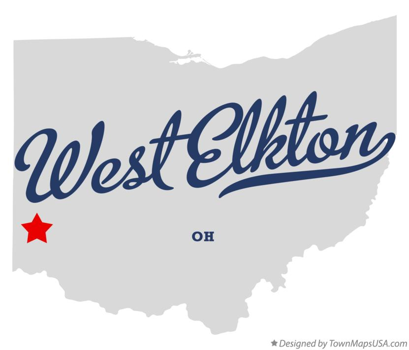 Map of West Elkton Ohio OH