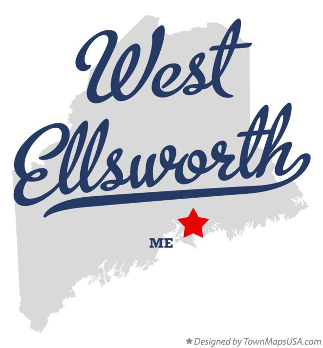 Map of West Ellsworth Maine ME