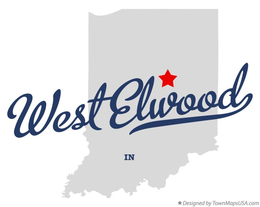 Map of West Elwood Indiana IN