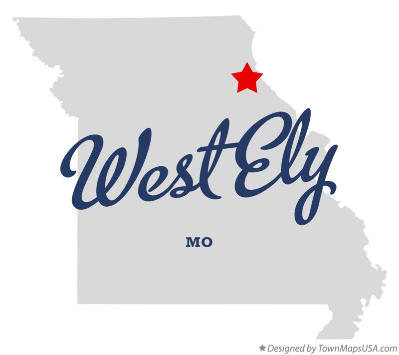 Map of West Ely Missouri MO