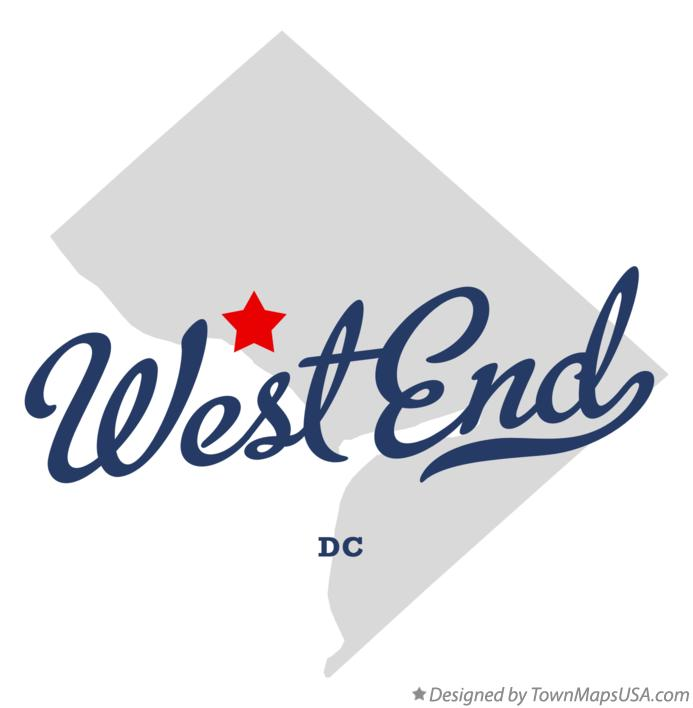 Map of West End District Of Columbia DC