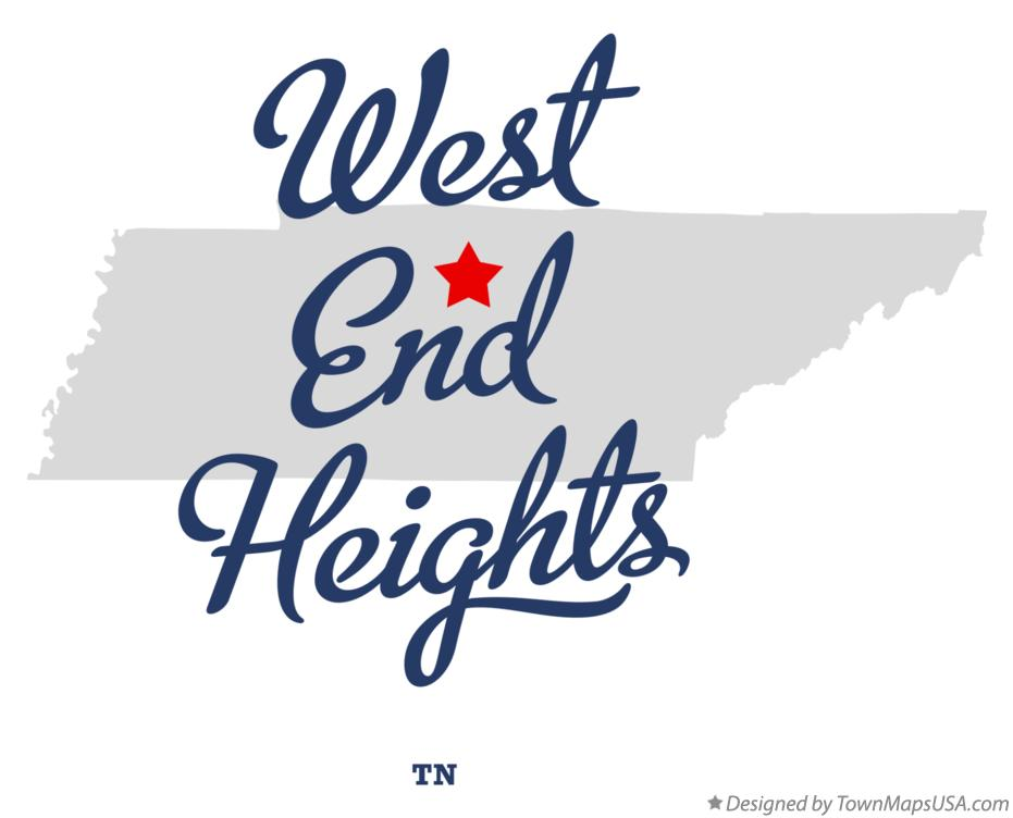 Map of West End Heights Tennessee TN