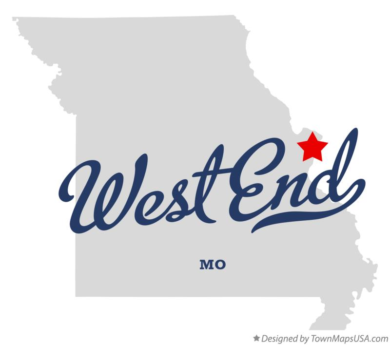 Map of West End Missouri MO