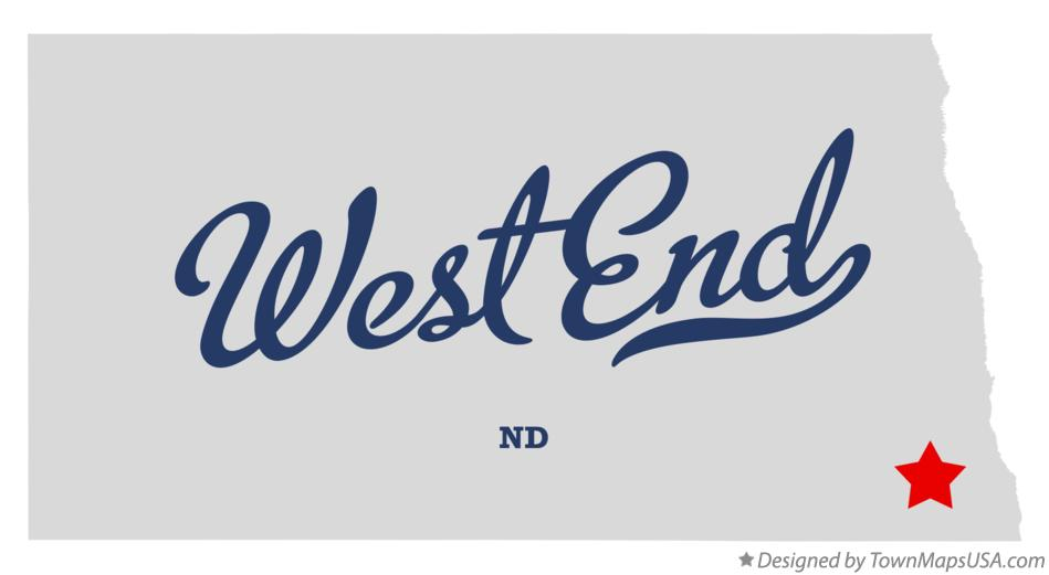 Map of West End North Dakota ND