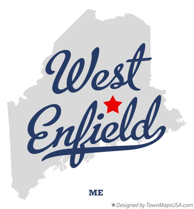 Map of West Enfield Maine ME