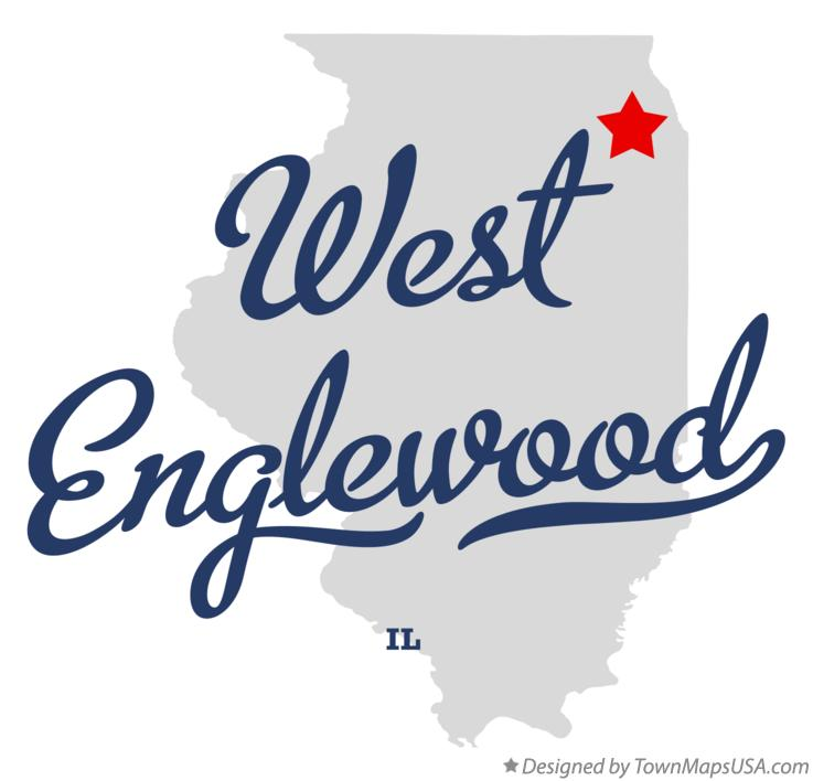 Map of West Englewood Illinois IL