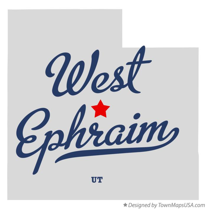Map of West Ephraim Utah UT