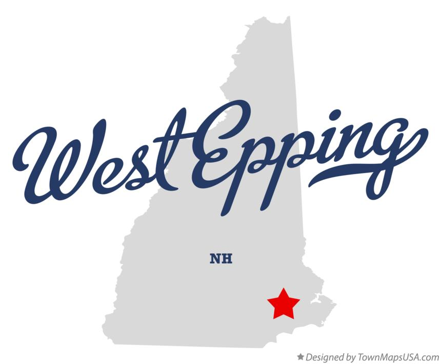 Map of West Epping New Hampshire NH