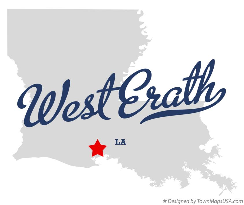 Map of West Erath Louisiana LA