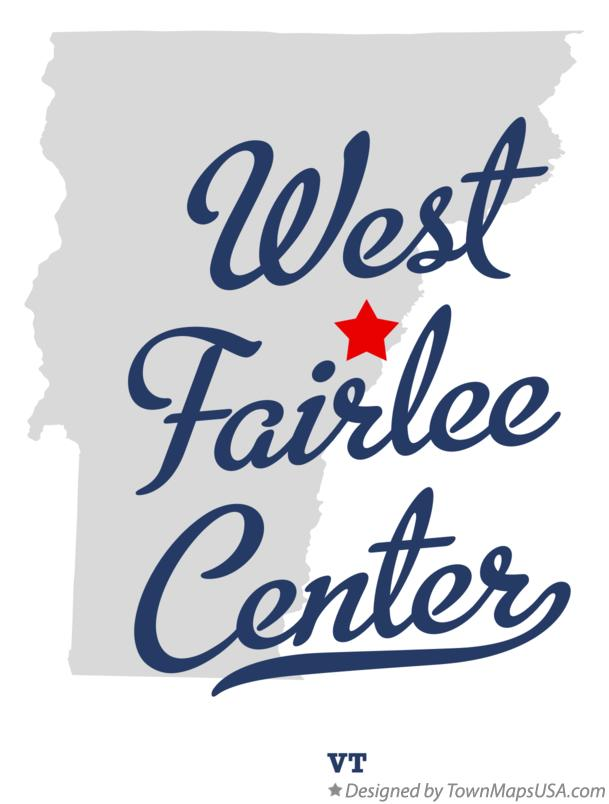Map of West Fairlee Center Vermont VT