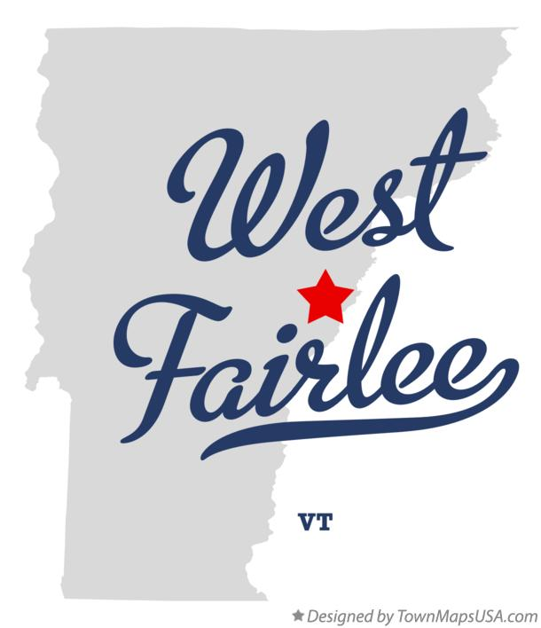 Map of West Fairlee Vermont VT