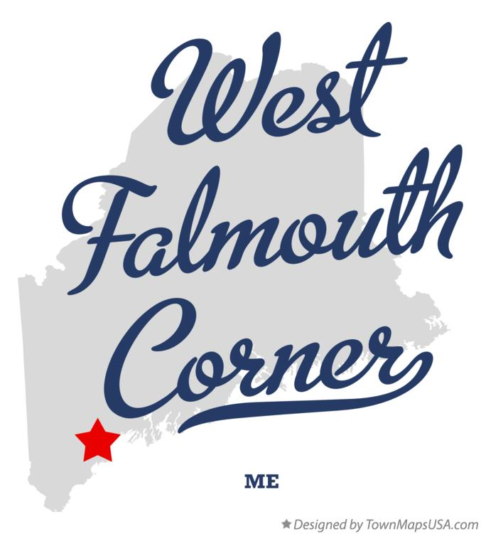 Map of West Falmouth Corner Maine ME