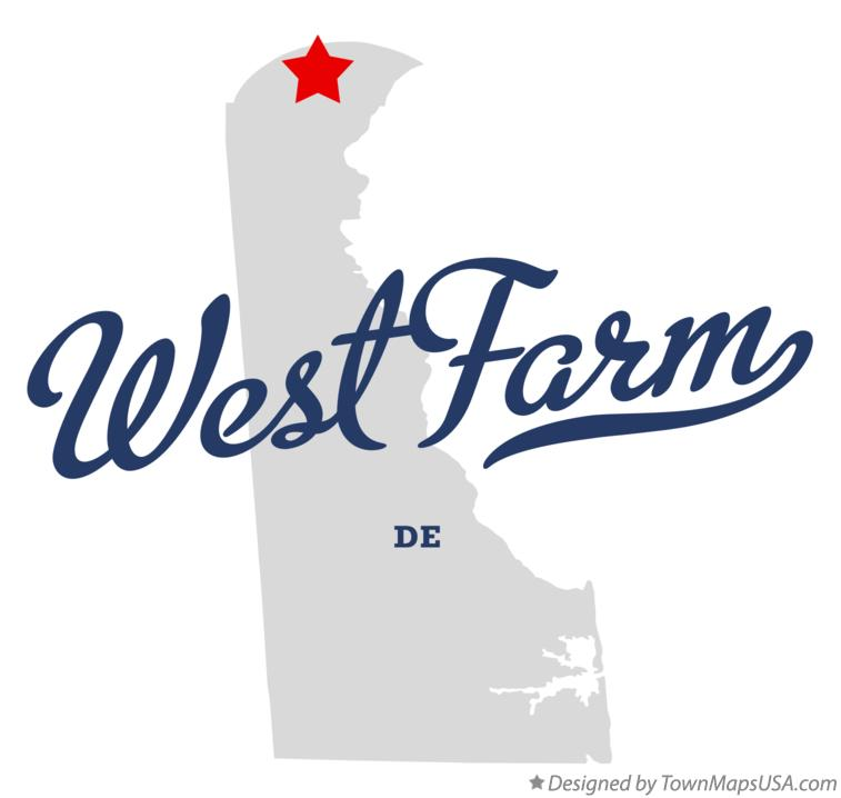 Map of West Farm Delaware DE