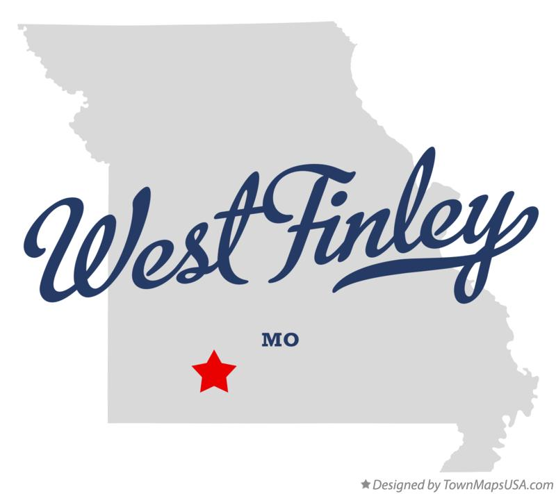 Map of West Finley Missouri MO