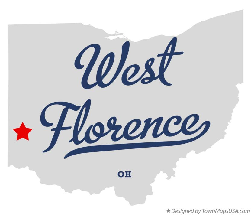 Map of West Florence Ohio OH