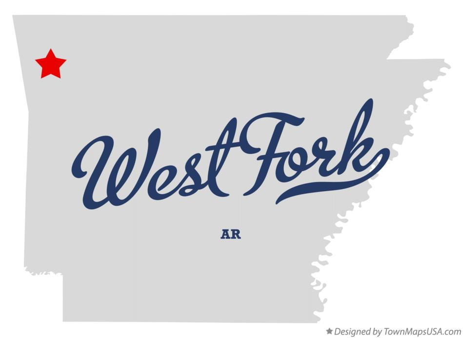 Map of West Fork Arkansas AR