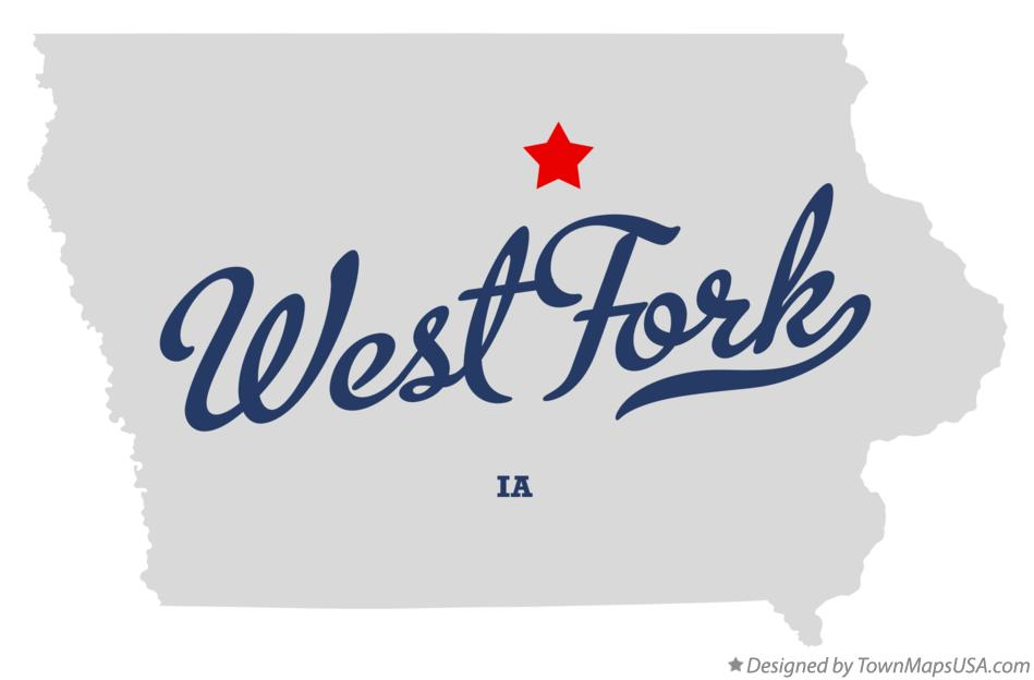 Map of West Fork Iowa IA