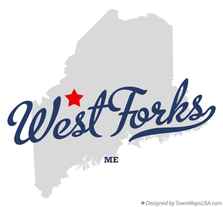 Map of West Forks Maine ME