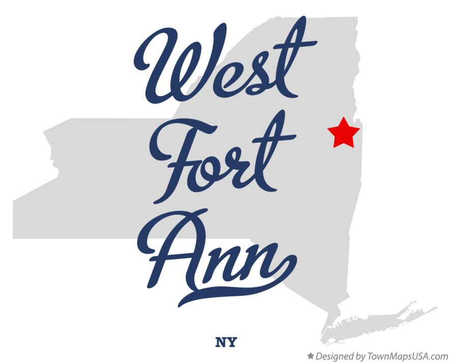 Map of West Fort Ann New York NY