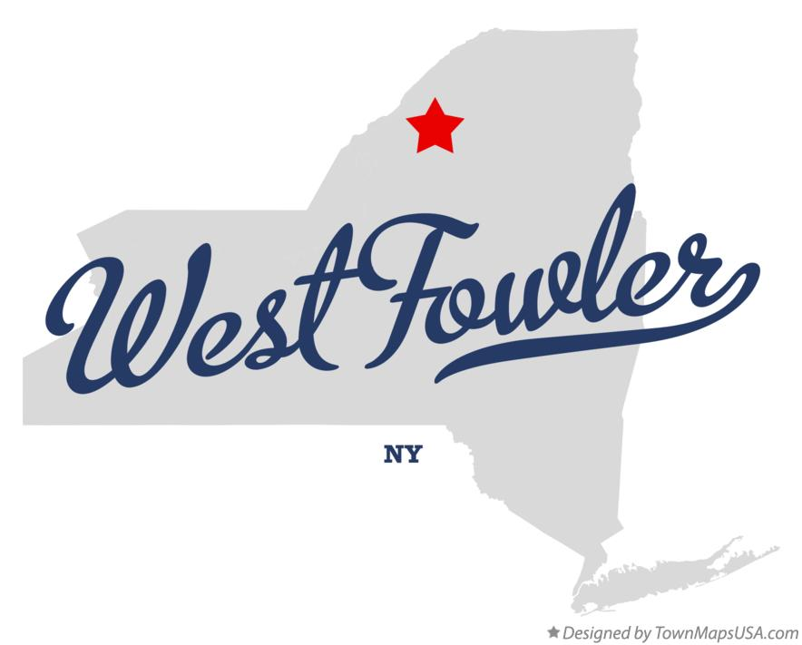 Map of West Fowler New York NY