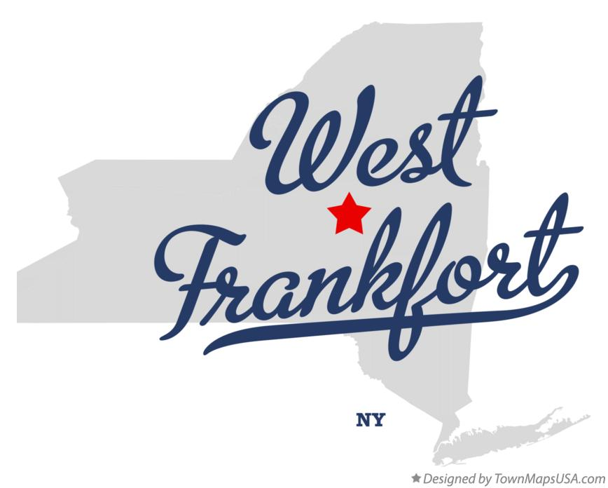 Map of West Frankfort New York NY