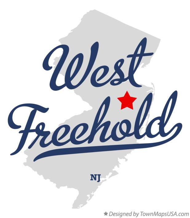 Map of West Freehold New Jersey NJ