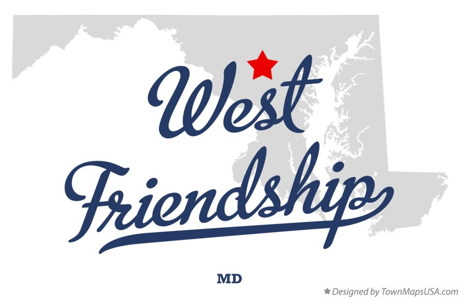 Map of West Friendship Maryland MD