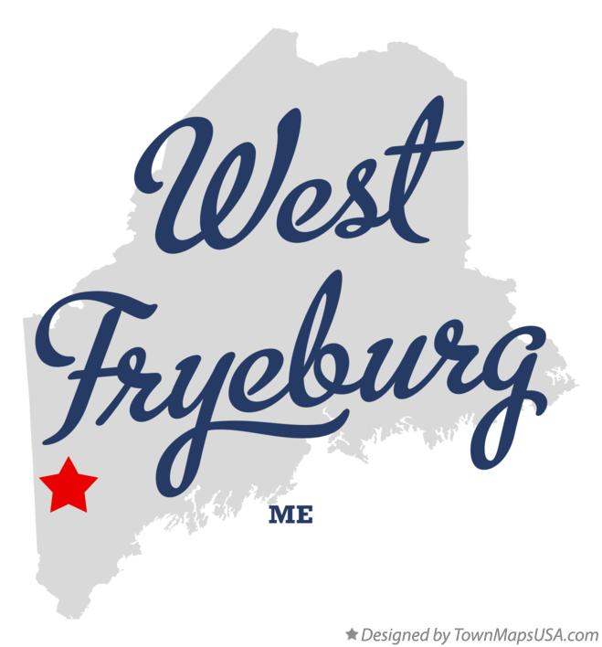 Map of West Fryeburg Maine ME