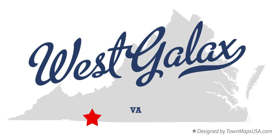 Map Of West Galax Va Virginia