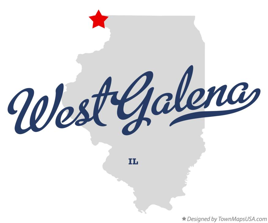 Map of West Galena Illinois IL