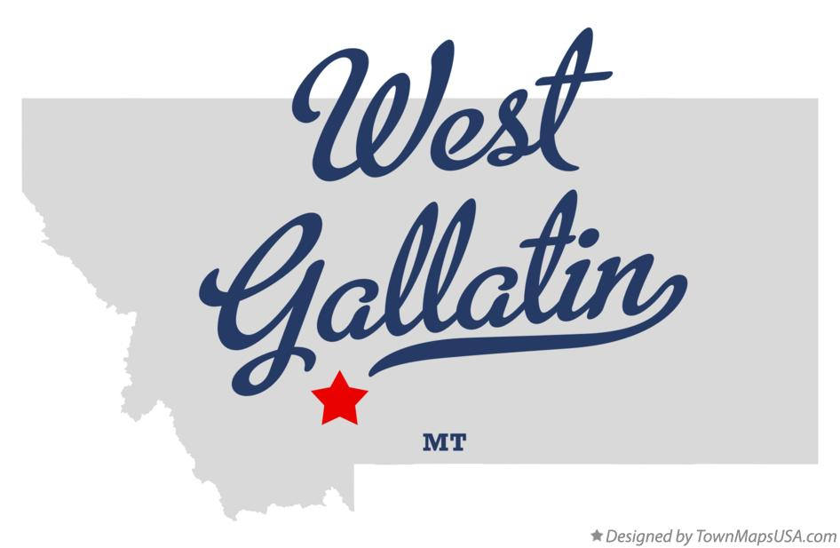 Map of West Gallatin Montana MT