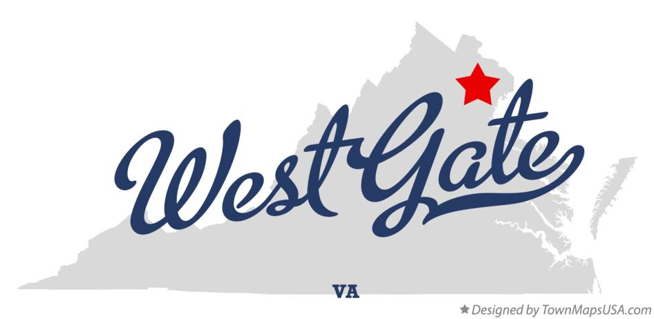 Map of West Gate Virginia VA