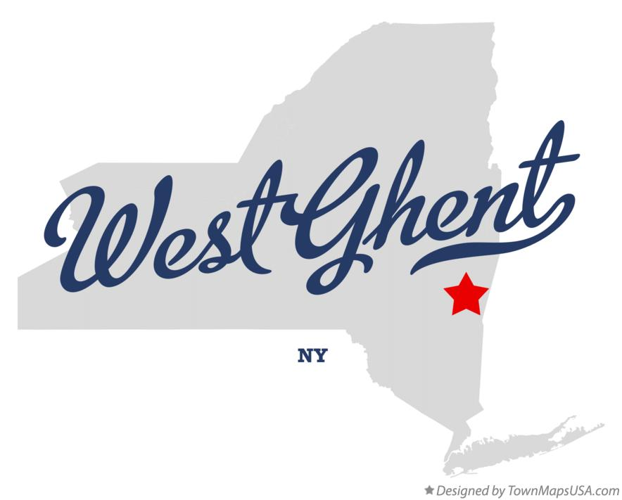 Map of West Ghent New York NY