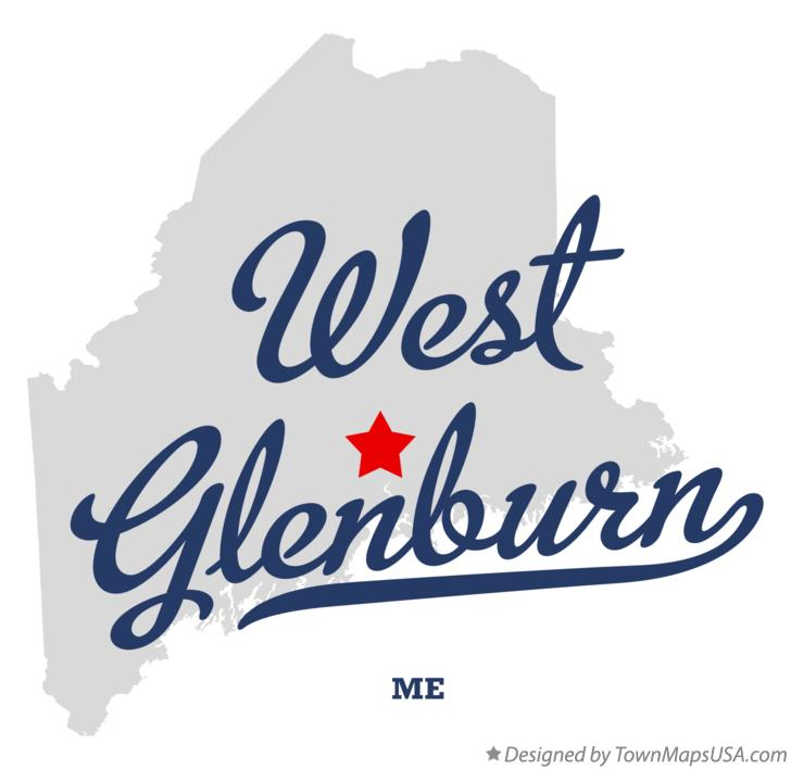 Map of West Glenburn Maine ME