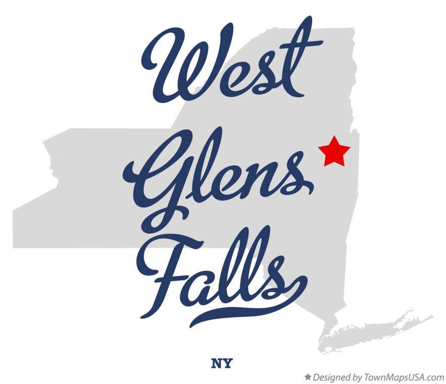 Map of West Glens Falls New York NY