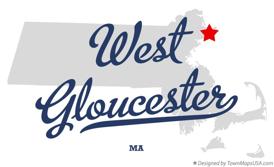 Map of West Gloucester Massachusetts MA