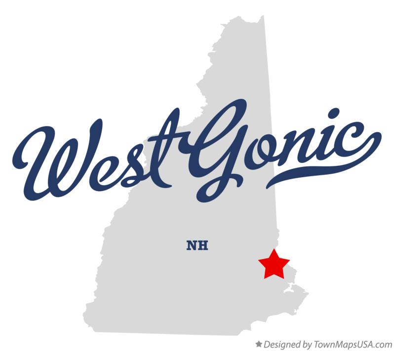 Map of West Gonic New Hampshire NH