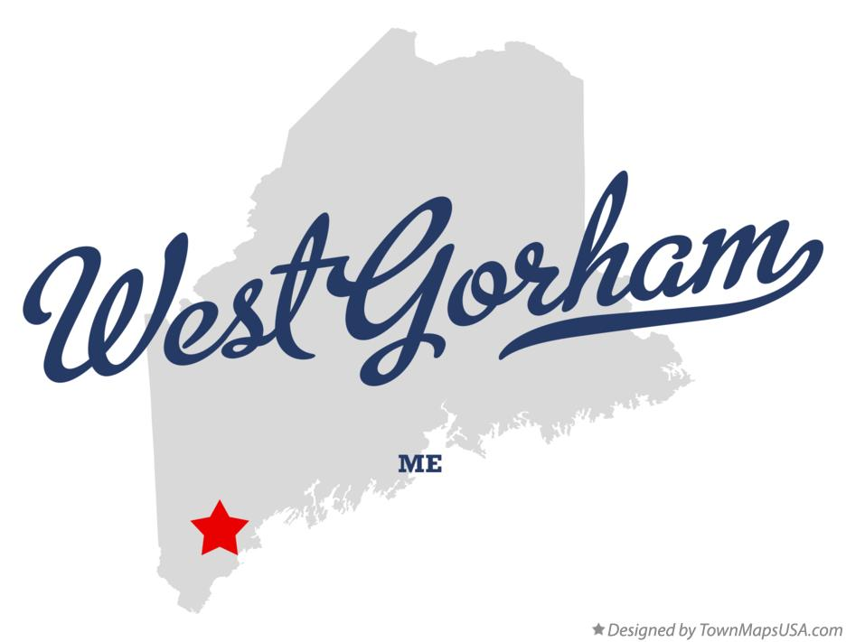 Map of West Gorham Maine ME