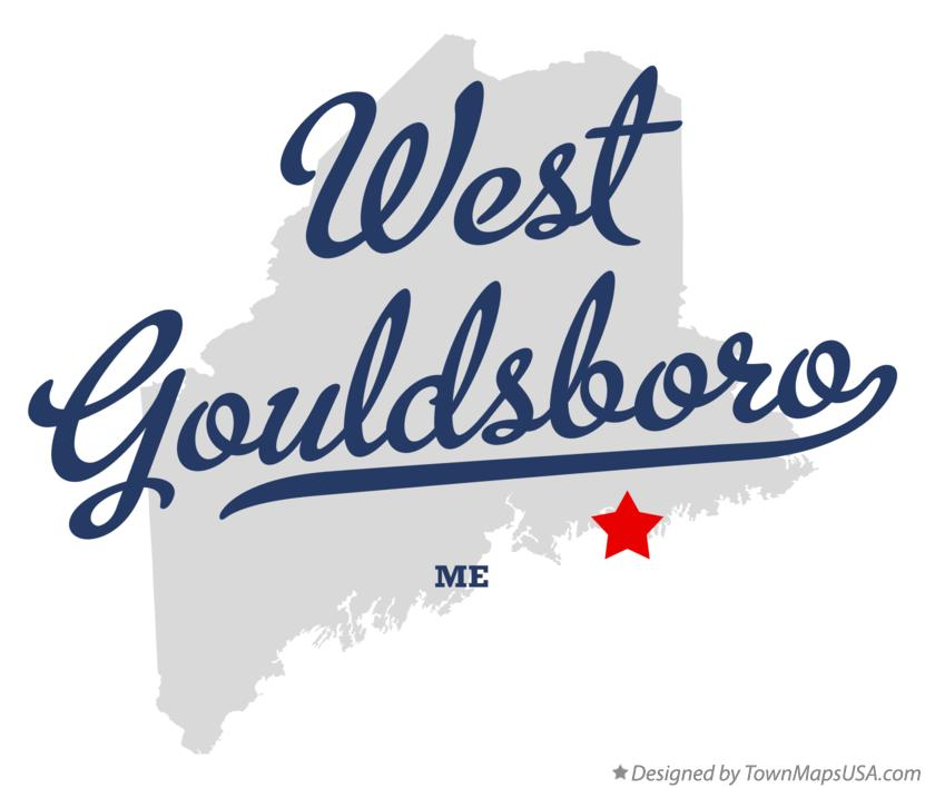 Map of West Gouldsboro Maine ME