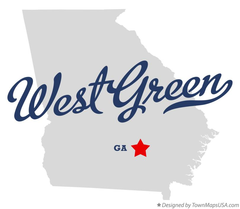 Map of West Green Georgia GA