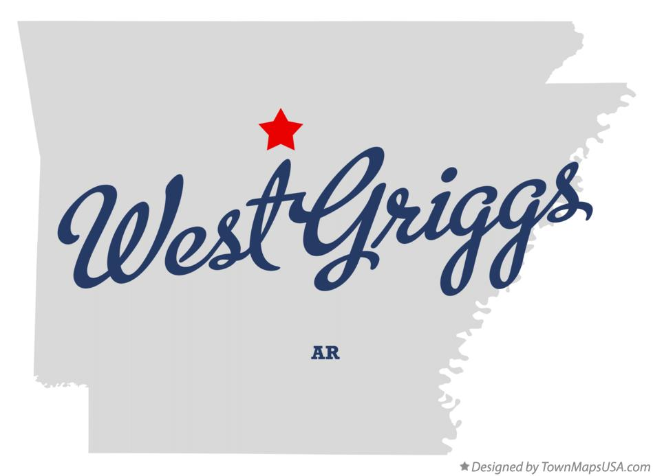 Map of West Griggs Arkansas AR