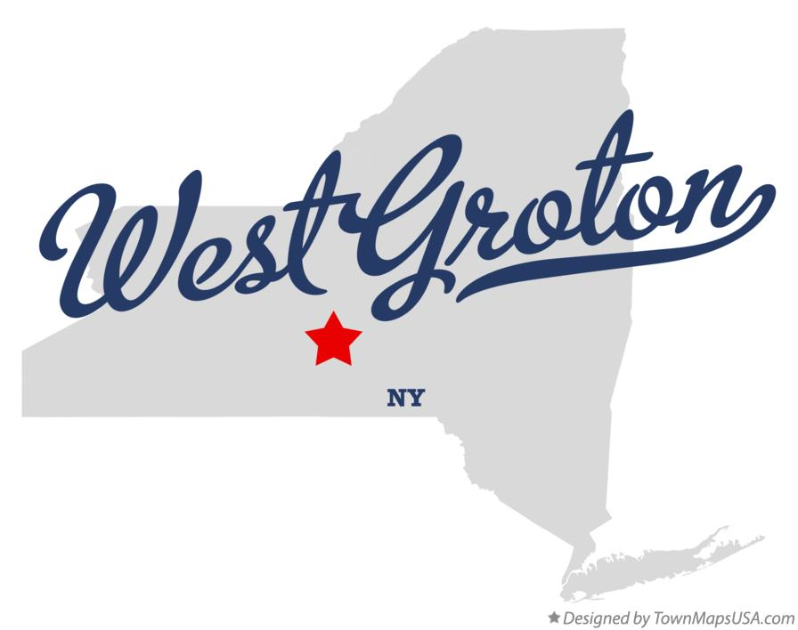 Map of West Groton New York NY
