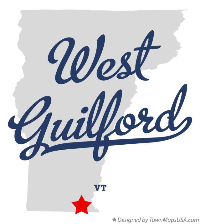 Map of West Guilford Vermont VT