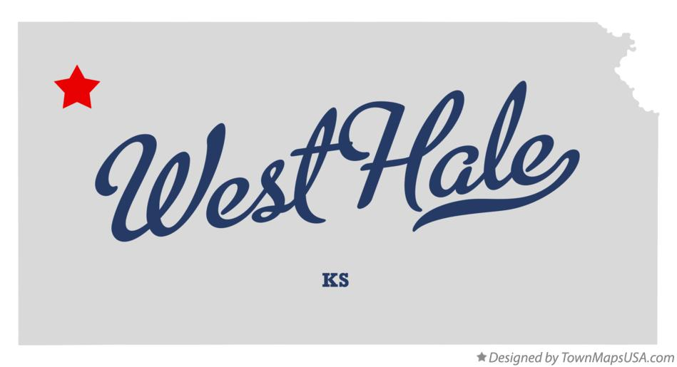 Map of West Hale Kansas KS