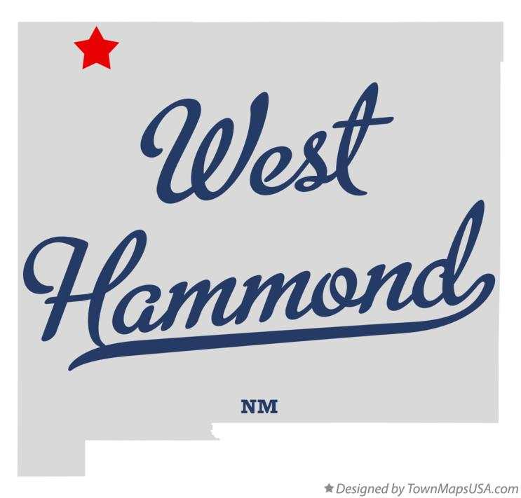 Map of West Hammond New Mexico NM