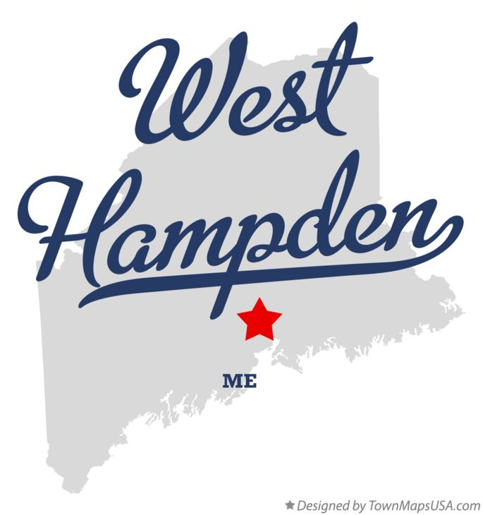 Map of West Hampden Maine ME