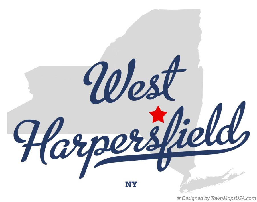 Map of West Harpersfield New York NY